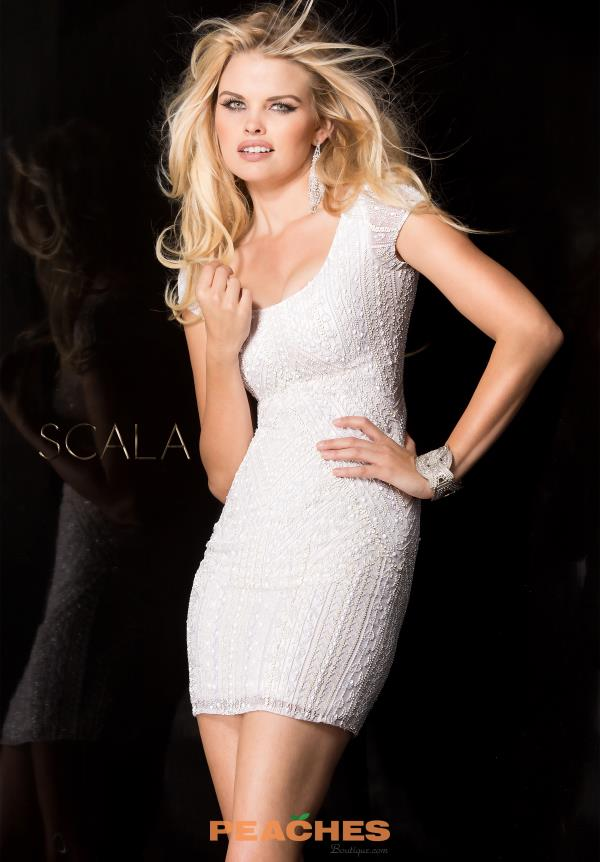 Scala Sleeved Beaded Dress 48599