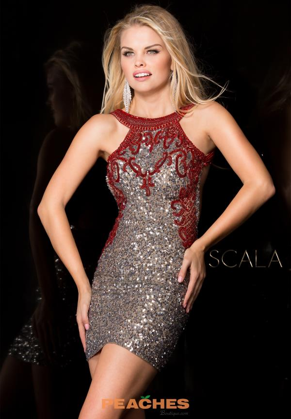 Scala Beaded Fitted Dress 48601