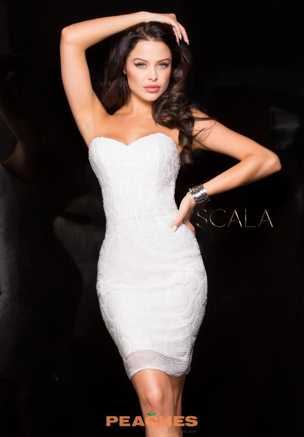 Strapless Fitted Scala Dress 48606