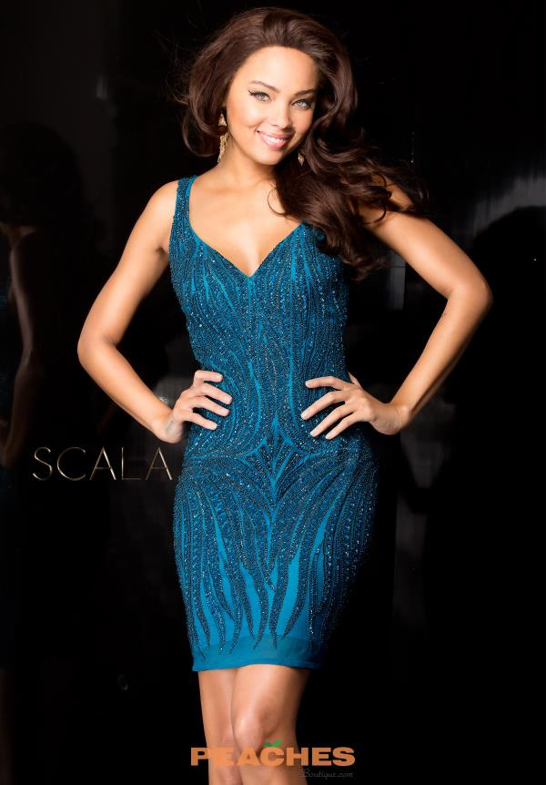 Scala Fitted Short Dress 48608