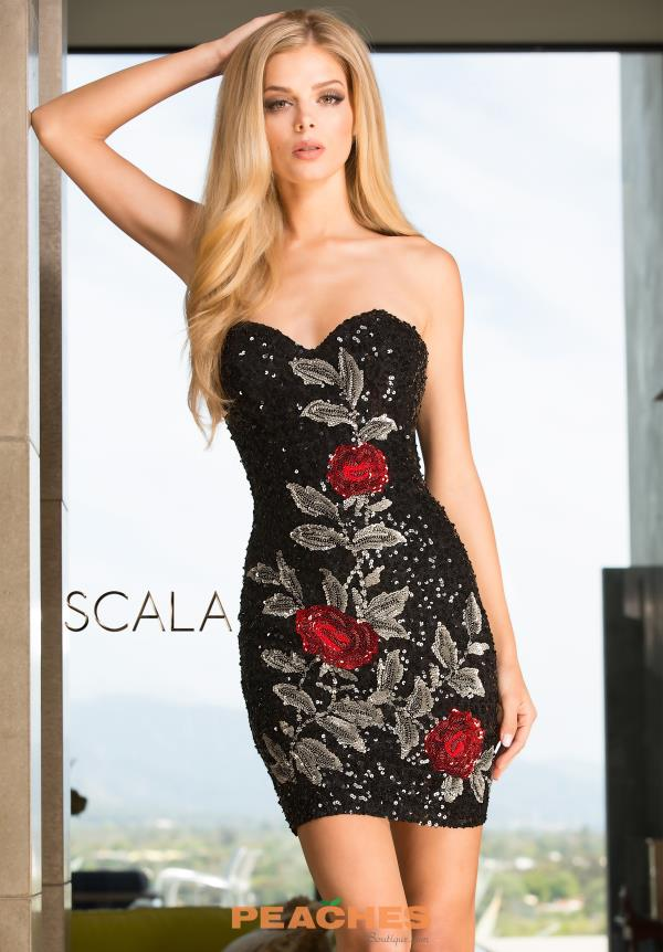Scala Fitted Short Dress 48654