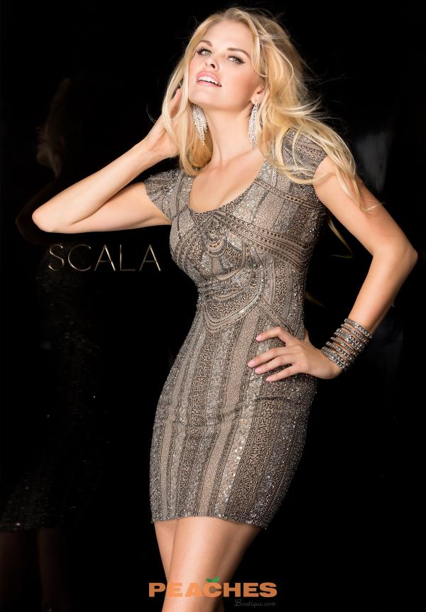 Scala Sequins Fitted Dress 48660