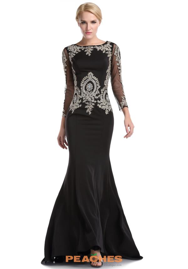 Romance Couture Black Fitted Dress RD1580