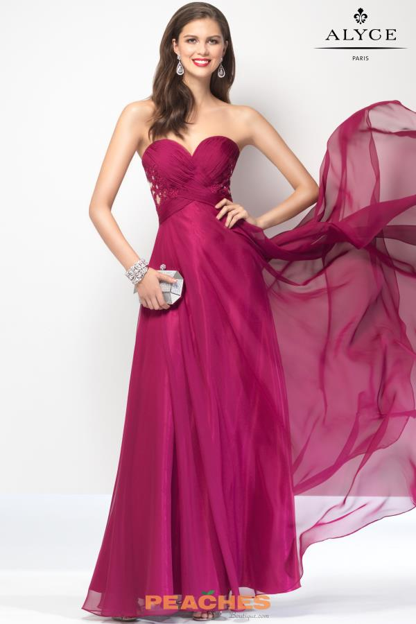 B'Dazzle Sweetheart Neckline Long Dress 35828