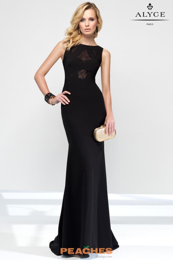 B'Dazzle Fitted High Neckline Dress 35836