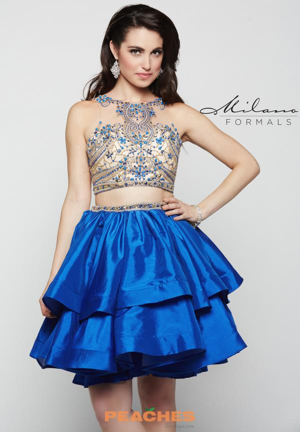 Milano Formals Beaded Two Piece Dress E2000