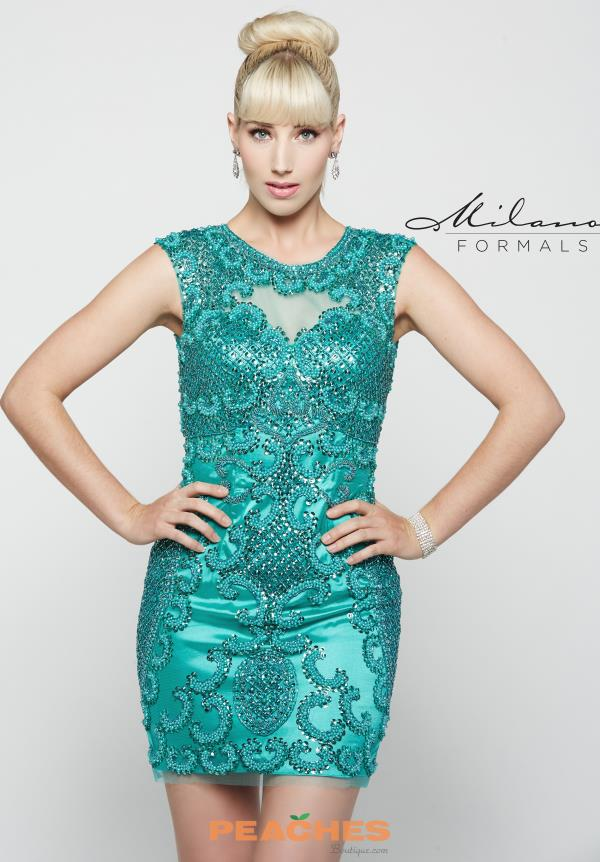 Milano Formals Lace Fitted Dress E2023