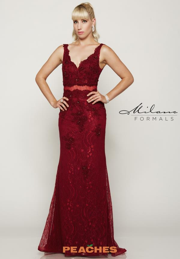 Milano Formals Lace Fitted Dress E2025