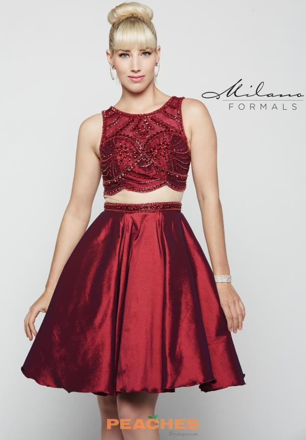A Line Two Piece Milano Formals Dress E2027
