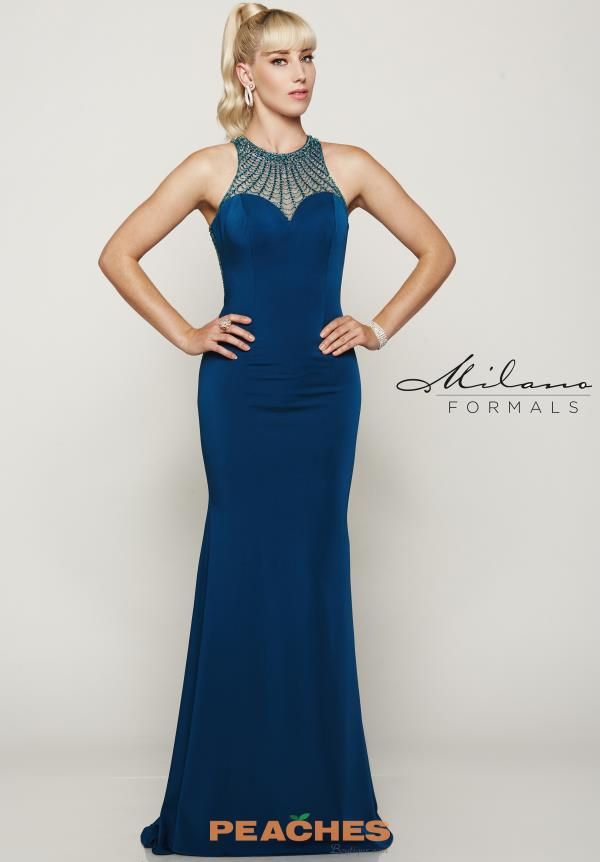 Milano Formals Fitted Long Dress E2032
