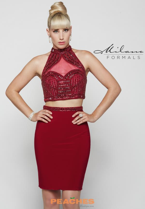Milano Formals Two Piece Jersey Dress E2034