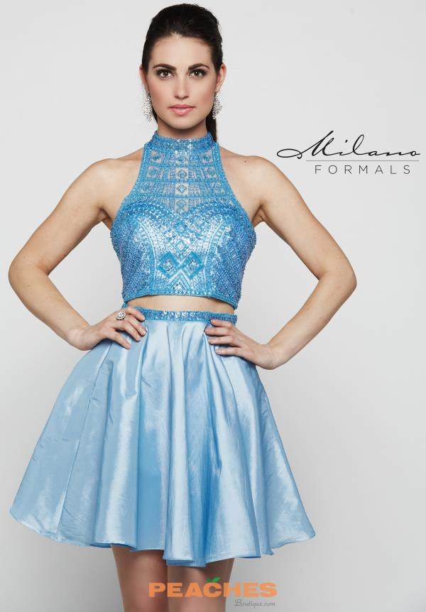 Blue Two Piece Milano Formals Dress E2039