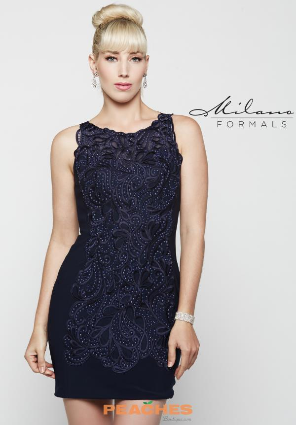 Short Beaded Milano Formals Dress E2040