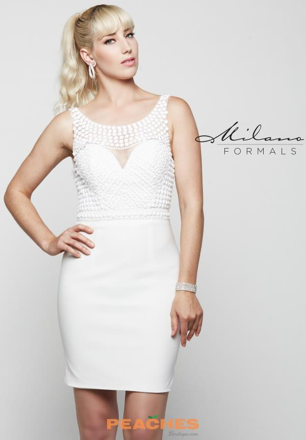 Milano Formals Short Fitted Dress E2041
