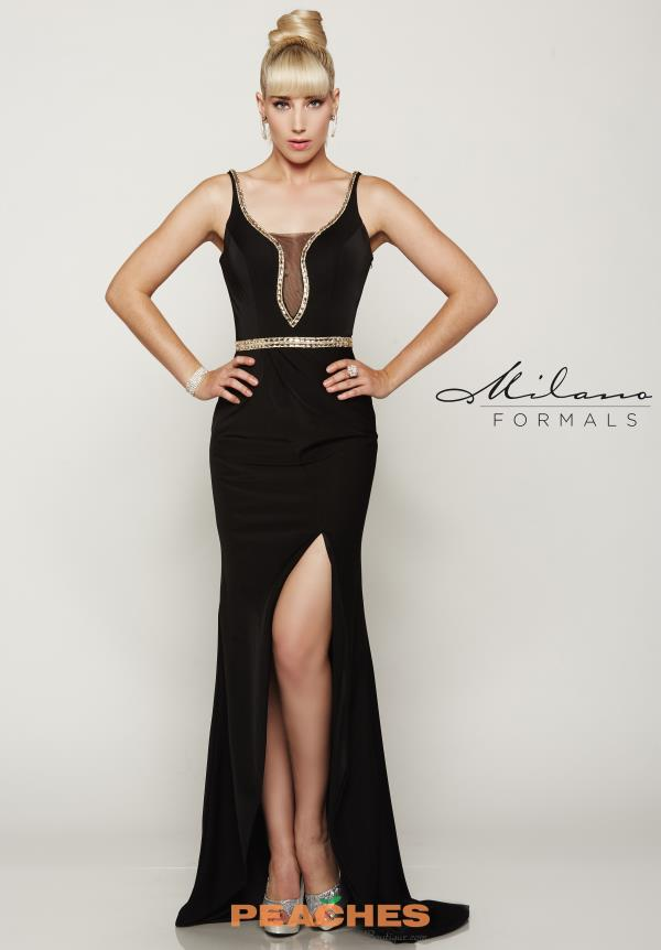 Milano Formals Long Fitted Dress E2045