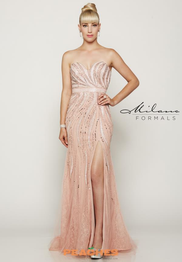 Long Beaded Milano Formals Dress E2047