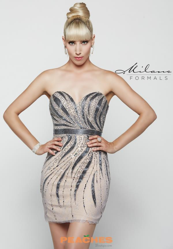 Milano Formals Sweetheart Neckline Beaded Dress E2049