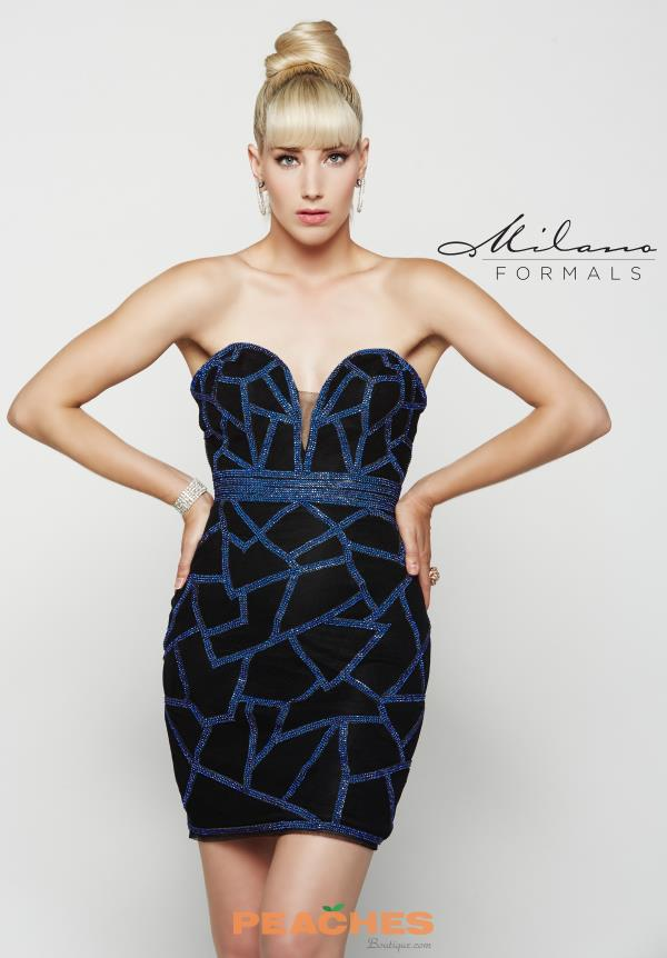 Milano Formals Beaded Short Dress E2050
