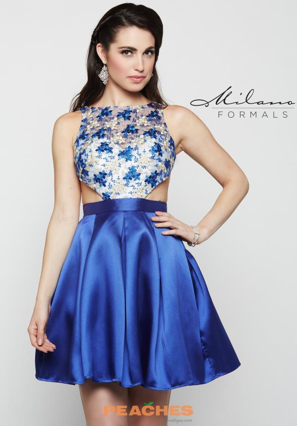 Milano Formals A Line Blue Dress E2059