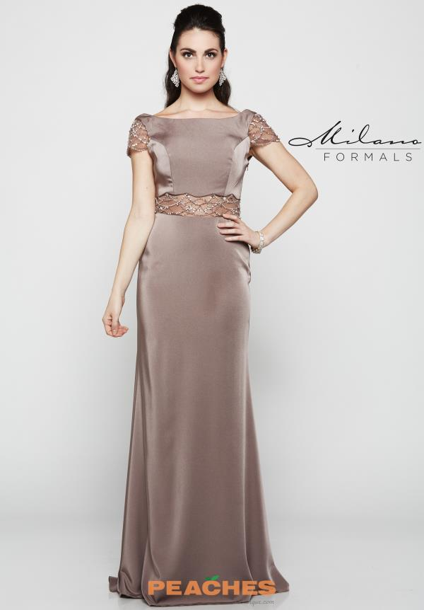 Milano Formals Long Fitted Dress E2071