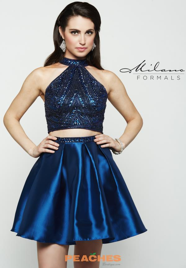 Navy Two Piece Milano Formals Dress E2075