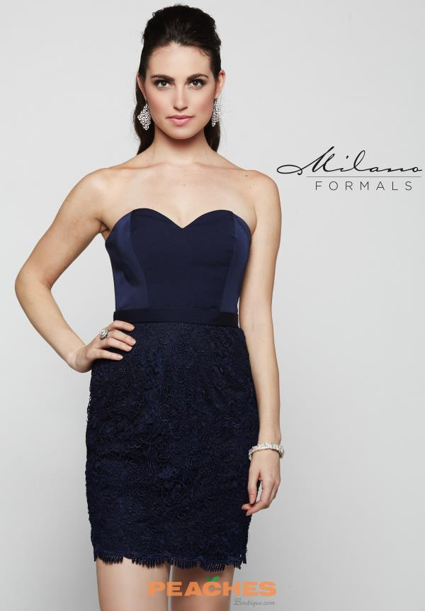 Milano Formals Fitted Short Dress E2076