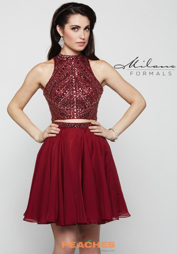 Milano Formals High Neckline Beaded Dress E2078