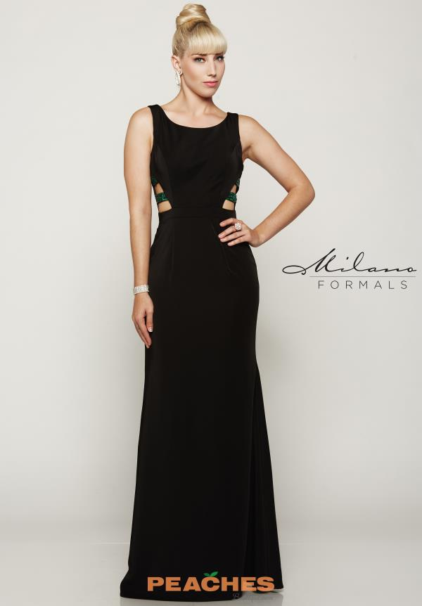 Milano Formals Black Fitted Dress E2080