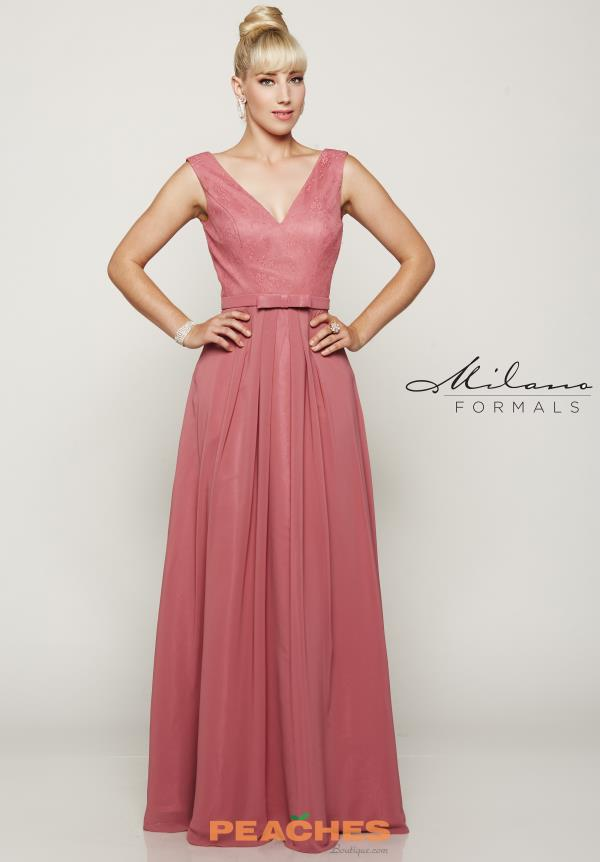 Milano Formals Long Lace Dress E2083