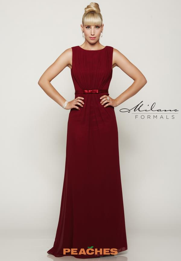 High Neckline Long Milano Formals Dress E2086