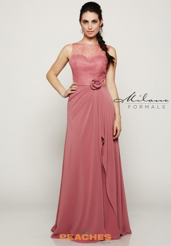 Milano Formals Long Chiffon Dress E2087
