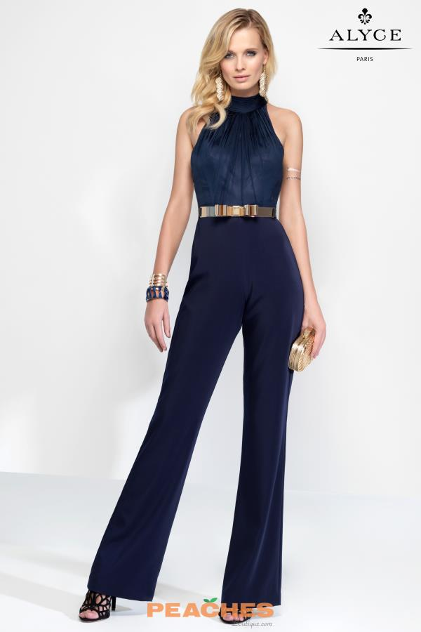 High Neckline Pant Suit Alyce Paris 2576