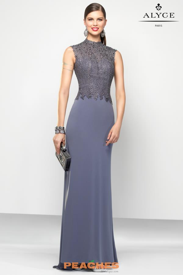 Alyce Paris Jersey Fitted Dress 5797