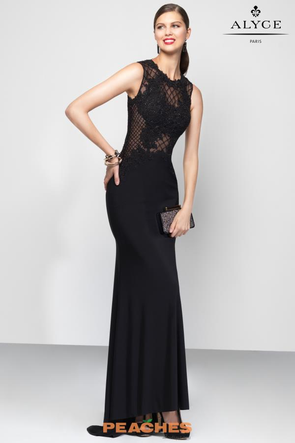 Alyce Paris Beaded High Neckline Dress 5800
