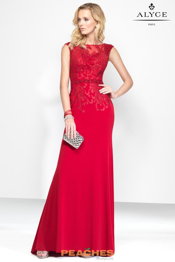 Alyce Paris Long Fitted Dress 5801