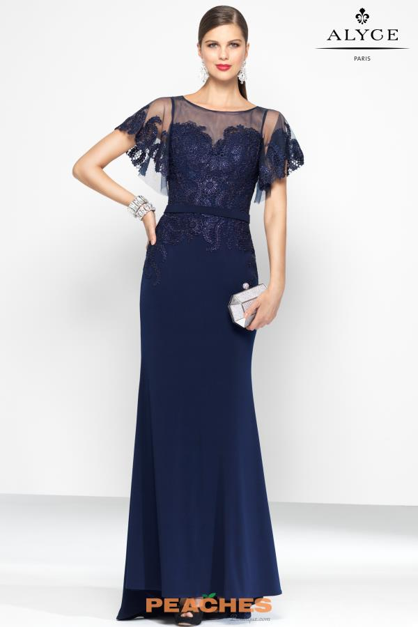 Alyce Paris Lace Dress 5802