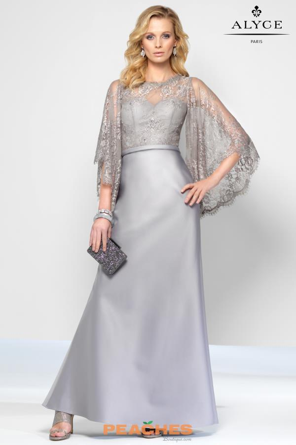 Alyce Paris Sleeved Long Dress 5806