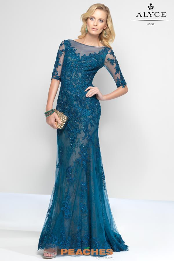Alyce Paris Lace Fitted Dress 5811