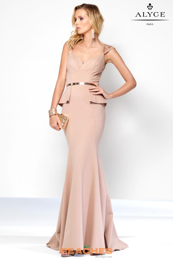 Alyce Paris Long Fitted Dress 5814