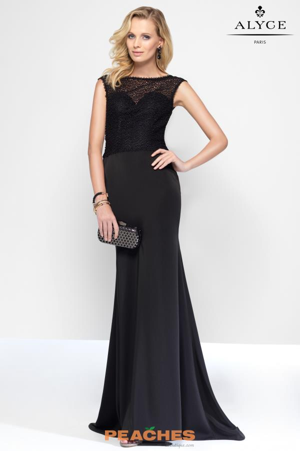 Long Beaded Alyce Paris Dress 5817