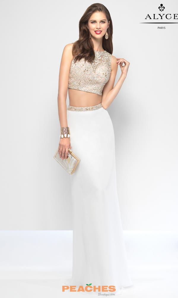 Two Piece Fitted Alyce Paris Dress 6657
