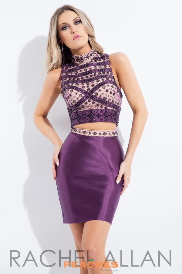 Beaded Two Piece Rachel Allan Dress 3099