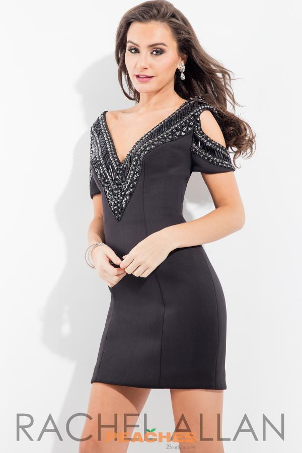 Rachel Allan Cap Sleeved Fitted Dress 3102