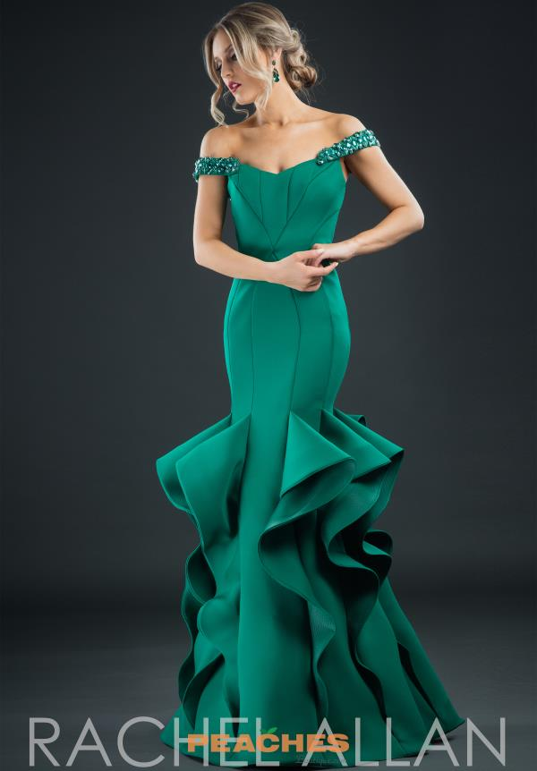 Rachel Allan Cap Sleeved Mermaid Dress 8172