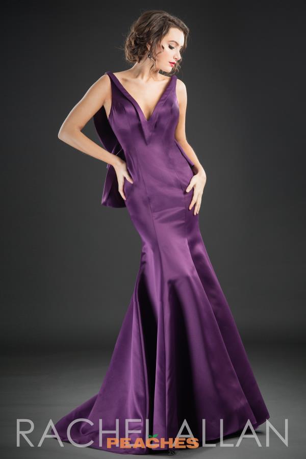 Rachel Allan Long Satin Dress 8211