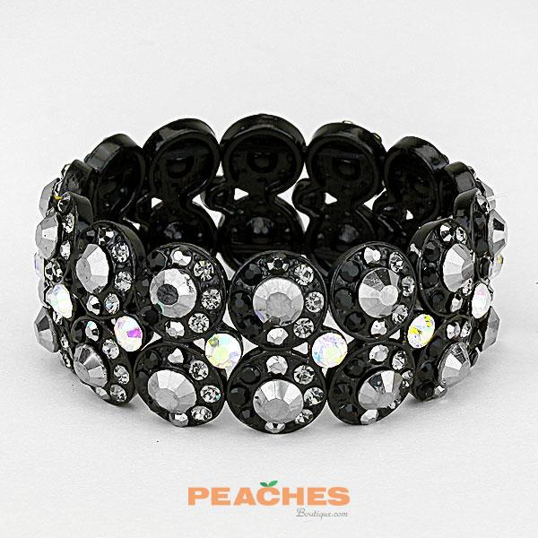 B291 Charcoal and Black Bracelet