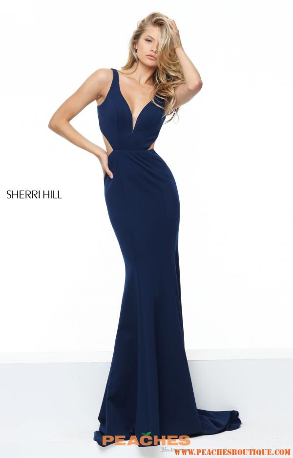 Sherri Hill Fitted Winter Formal Dress 50753