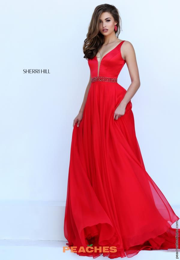 Sherri Hill V- Neckline Long Dress 50264