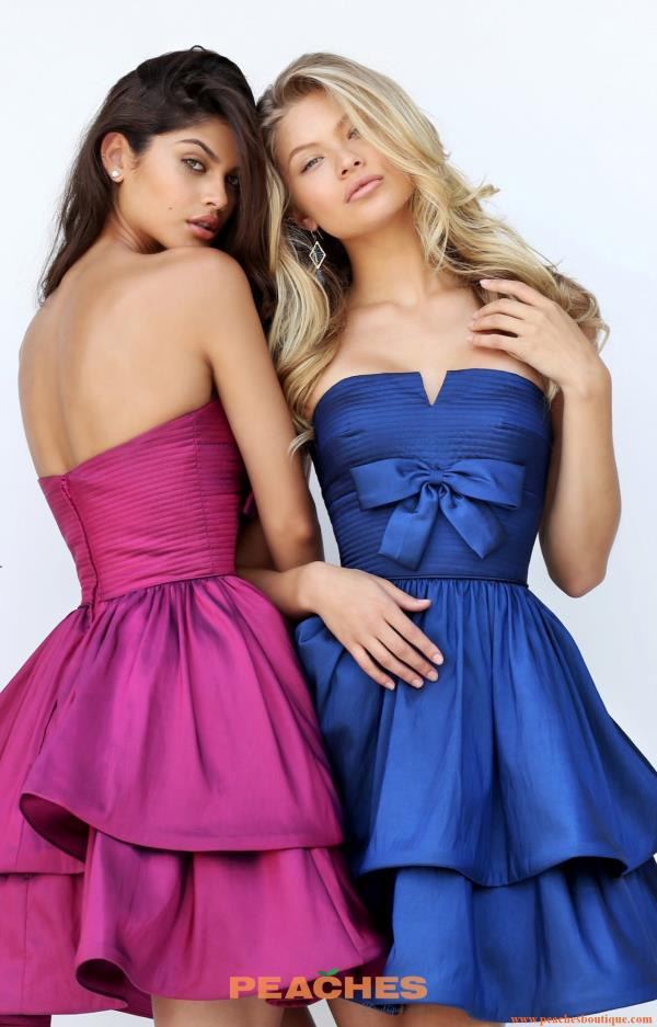 Sherri Hill Short Strapless A Line Dress 50546