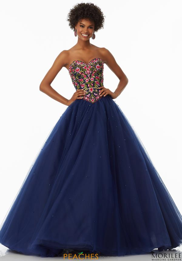 Mori Lee Strapless Print Dress 99020